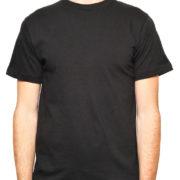1001 Black Lightweight Ringspun Cotton T-Shirtblack