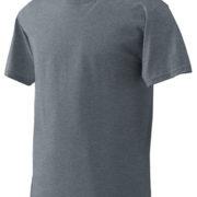1001 Heather-Charcoal Lightweight Ringspun Cotton T-Shirt