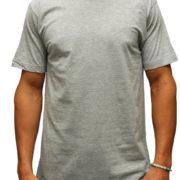 1001 Heather-Grey Lightweight Ringspun Cotton T-Shirt