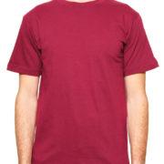1001 Maroon-Burgundy Lightweight Ringspun Cotton T-Shirt