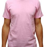 1001 Pink Lightweight Ringspun Cotton T-Shirt