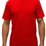1001 Red Lightweight Ringspun Cotton T-Shirt