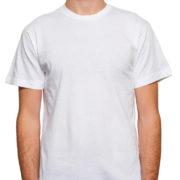 1001 White Lightweight Ringspun Cotton T-Shirtblack