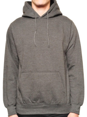 Heather Charcoa Classic Pullover Wholesale Hoodies (Heavy Weight)