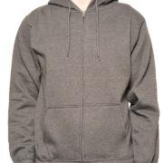 Heather Charcoal Premium Full Zip Wholesale Hoodies
