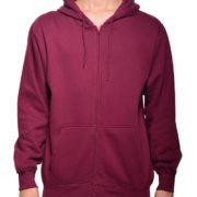 5109 Maroon-Burgundy Premium Full Zip Hoodies
