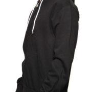 Black Ultra Full Zip Wholesale Hoodie