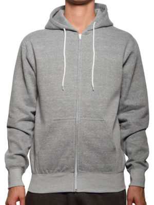 Heather Grey Salt & Pepper Full Zip Wholesale Hoodies