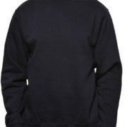Black Midweight Crewneck Wholesale Sweatshirt