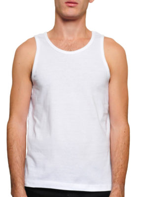 Tt180 White 100% Ringspun Cotton Tanktop